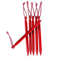 MSR Mini Groundhog Stake Kit Lightweight Aluminum Tent Stakes, Pack of 6