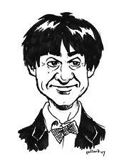 2nd Doctor Who Troughton original Ink drawing illustration pollard caricature