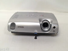 EPSON EMP-S3 LCD PROJECTOR USED LAMP WARNING FOR SPARE REPAIRS PARTS   REF:1235