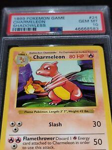 Pokemon Charmeleon 24/102 Shadowless Base Set PSA 10 1999 Pokemon TCG