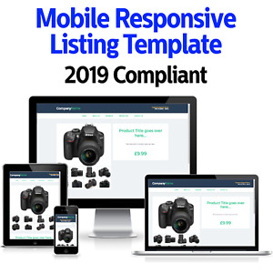 eBay Listing Template HTML Professional Mobile Responsive Design Universal 2021