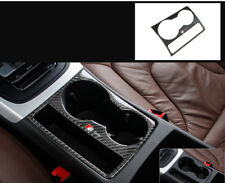 Carbon Fiber Interior Water Cup Holder Trim For Audi A4 S4 A5 S LINE A15