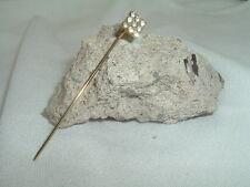 Lapel Pin In Gift Box Vintage Art Deco White Rhinestone Mens