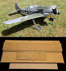 "79.25"" wing span Focke Wulf FW-190 A-8 R/c Plane short kit/semi kit and plans"