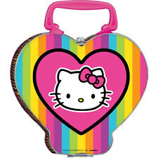 HELLO KITTY Neon Tween METAL FAVOR CONTAINER ~ Birthday Party Supplies Lunchbox
