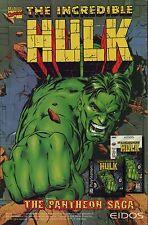 Vtg. 1996 Marvel INCREDIBLE HULK Pantheon Saga  PS1 / Saturn video game print ad