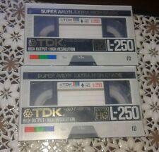 4 cassette TDK L-250 SUPER EXTRA HG nuove sigillate beta super avilyn 78m video
