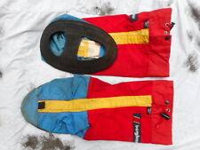 original BERGHAUS goretex YETI MOUNTAIN boot GAITERS L LARGE vintage red EXTREME