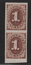 $US Sc#J1P3 M/VF-XF, pair on India paper, Cv. $44