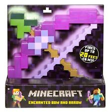 New Minecraft Enchanted Bow And Arrow Toy Gift For Kids - UK Seller