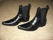 """Madcap """"Chelsea Dagger"""" Mens Beatle Boots - UK 40 US 7 - Black - Worn Once MINT"""