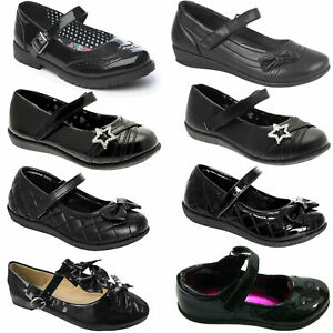 NEW GIRLS CHILDREN SCHOOL PARTY EVENING FANCY FORMAL CASUAL STRAP LOW SHOES SIZE
