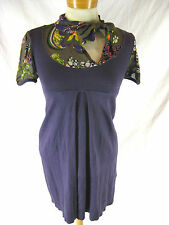 Lovely Sz S 8 10 Miss Sixty Funky Purple Knit Dress Designer