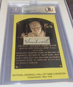 """Babe Ruth Signed Autographed Handwritten Word """"Kenilworth"""" Beckett Certified"""