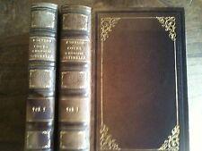 MICHEL ADANSON - COURS D'HISTOIRE NATURELLE FAIT EN 1772 – 2 vol 1845 - RELIURE