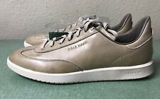 Cole Haan GrandPro Turf Leather Pumice Stone White Mens Sz 8.5 Sneakers Sample