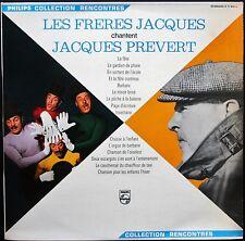 LES FRERES JACQUES CHANTENT JACQUES PREVERT LP 33T BIEM PHILIPS 77.930 NEUF MINT