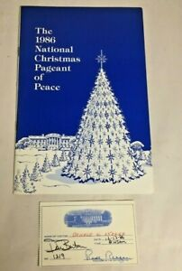 1986 National Christmas Pageant of Peace w 2 Visitor Cards Reagan White House