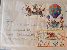"""Briefumschlag gelaufen mit tollen Sonder Marken  """"Für uns Kinder"""" 10.06.02 - 20"""