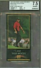 1997 Grand Slam Ventures GOLD  FOIL MASTERS Golf Tiger Woods RC Rookie BGS 7.5