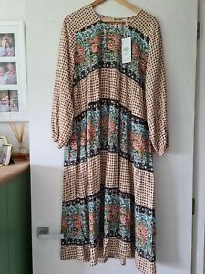 Adrift Maxi Dress Moroccan Print Size L Current Season RRP 129.99