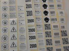 1000 etichette personalizzate su un rullo (non fogli)