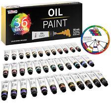 Professional 36 Color Art Oil Paint Set, Lg 18ml Tubes, Artist Student Paintings