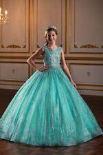 Tiffany Princess 13575 Aqua Stunning Girls Authentic Pageant Gown Dress sz 14