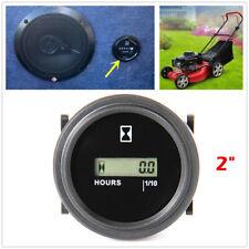 Snap In Hour Meter Round LCD Hour Meter Quartz Hour Meter for Fork Cart Boat RV