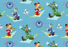 Disney Mickey & Friends Blue allover 100% Cotton fabric by the yard