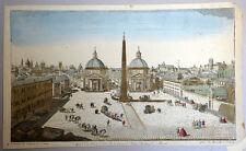 Vue d'optique Piazza del Popolo