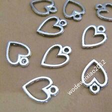 100pc Retro Tibetan Silver Charms Peach heart Pendant Beads Accessories JP817