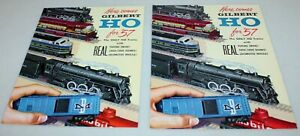 Two 1957 Gilbert HO Catalogs: D1966 & D2031 + Original HO Price List 1/15/57 !