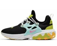 NWOB Nike Women Presto React 8.5 Black Psychic Pink Laser Orange Sneaker Shoes