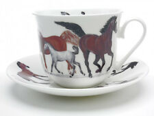 Roy Kirkham Horses Pony Large Bone China Breakfast Cup & Saucer Gift Box Riding