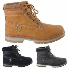 WOMENS LADIES WORK BIKER LACE UP COMBAT ARMY WINTER WARM ANKLE BOOTS SHOES SIZE