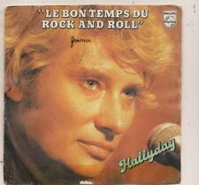 FRENCH 45 T   JOHNNY HALLYDAY LE BON TEMPS DU ROCH AND ROLL