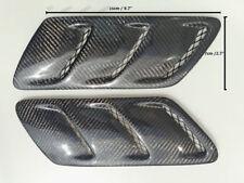 Pair of 25CM*7CM Universal Carbon Fiber Fender Hood Bonnet Scoops Vents Type 12