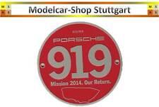 """Porsche 919 Grill Badge Le Mans 2014 """"Our Return"""" Club Plakette -  ltd.Edition"""