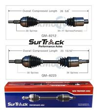 For Cadillac SRX CTS STS 2004-2012 AWD Pair of Front CV Axle Shafts SurTrack Set