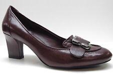 Nine West Burgundy Red Leather Career Dress Pumps Heels Buckle 6M 6