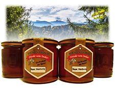 Vier Gläser Bayerischer Waldhonig à 500g, Honig aus eigener Imkerei