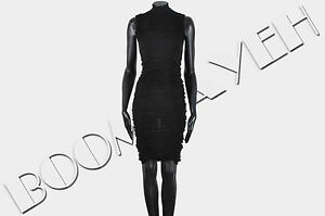DSQUARED 1100$ Authentic New Black Virgin Wool Stretch Dress