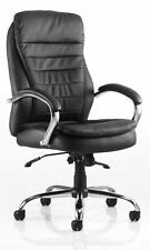Dynamic Ex000061 Rocky Executive Leather High Back Chair With Arms - Black