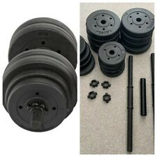 Opti Vinyl Barbell and Dumbbell Set 30kg - Brand New Gym Weights