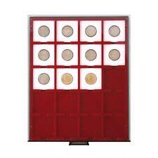 BOX MONNAIE FUME 20 Cases pour monnaies sous ETUIS (lindner)