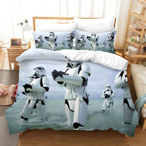 Star War-Storm Trooper Bedding Set Duvet Cover and Pillowcase Single Double King