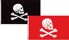 3x5 3'x5' Wholesale Combo Jolly Roger Pirate Avery Black & Red Flags Flag