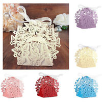 10/50/100x Butterfly Ribbon Gift Candy Paper Box Wedding Party Favor Paper BagHG