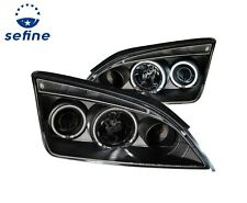 ANZO PROJECTOR HEADLIGHTS 4DR HALO BLACK (CCFL) FOR 05-07 FORD FOCUS ZX4 #121198